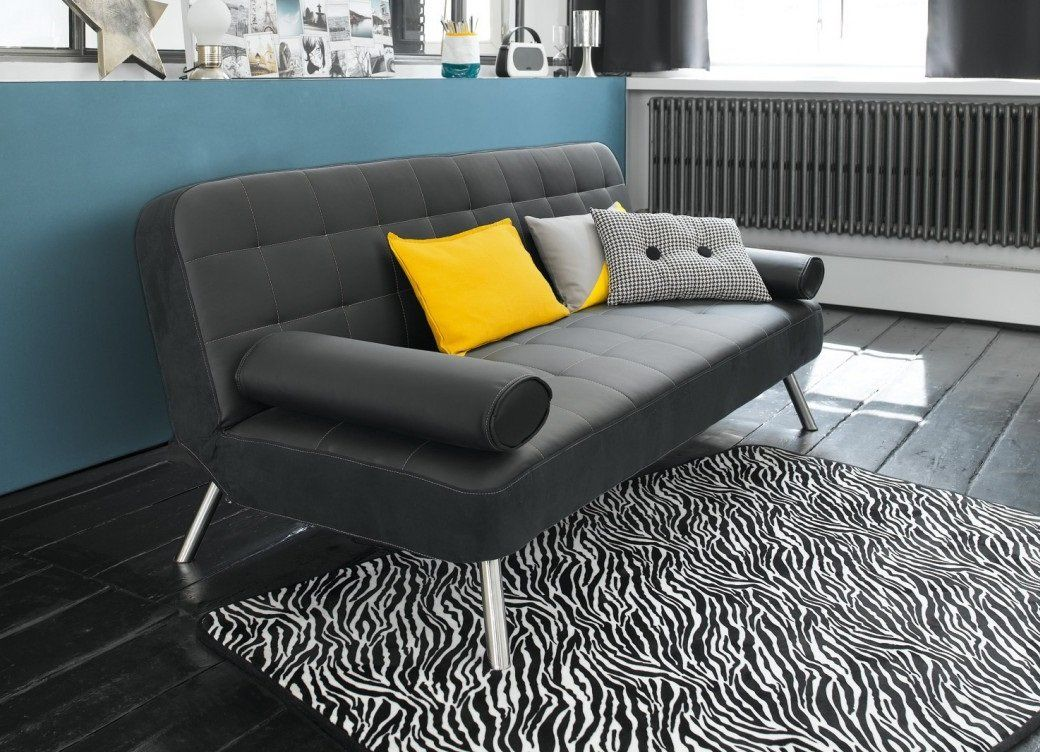 Sofá cama de piel sintética – Modelo JOY de Conforama