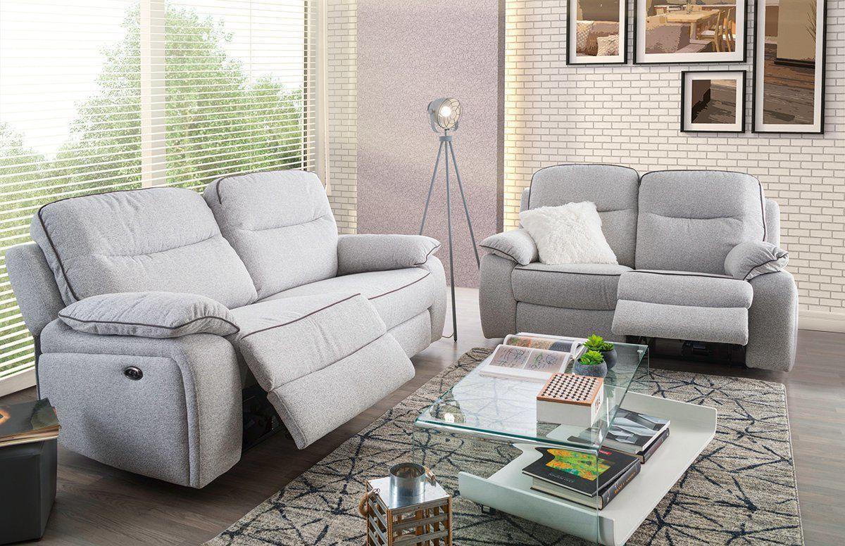 Sofá relax eléctrico de tela – Modelo NEREA de Conforama