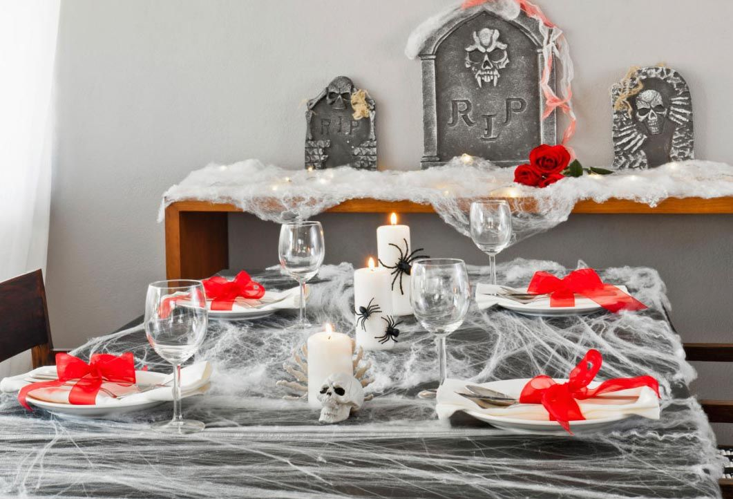 decorar mesa-comedor de halloween