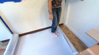 Decorar dormitorio juvenil azul con friso iluminado - paso 3