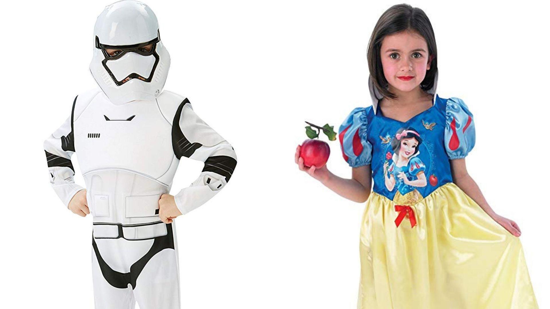 Disfraces de Caballero Imperial y Blancanieves. Fuente: Amazon.