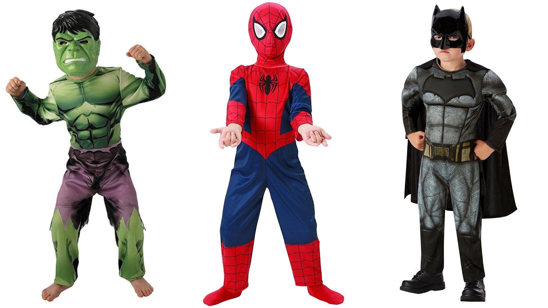 Disfraces de superheroes para Halloween.