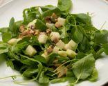 Receta de Ensalada de berros, rúcula, manzana y champiñones