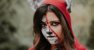 Middle Face Makeup: Maquillajes de media cara para Halloween (F�cil)