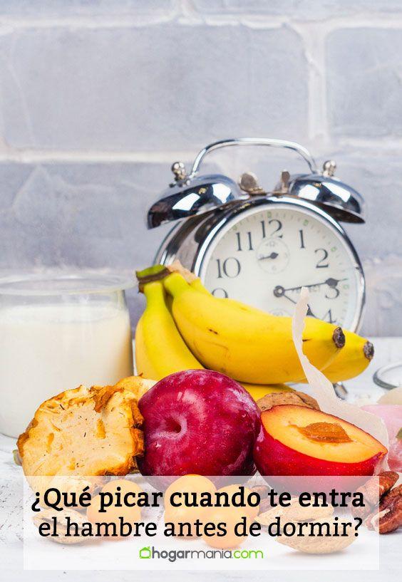 ¿Qué picar cuando te entra el hambre antes de dormir?