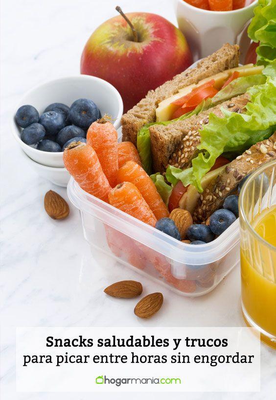 Snacks saludables y trucos para picar entre horas sin engordar