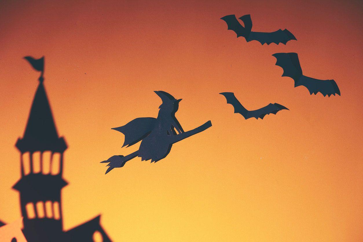 Sombras chinescas para Halloween.