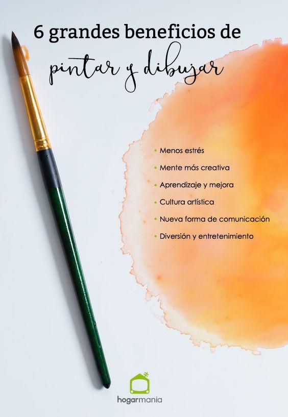 6 grandes beneficios de pintar y dibujar.