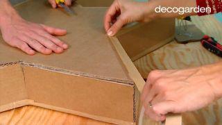 Hacer estrellas de Navidad de cartón - paso 7