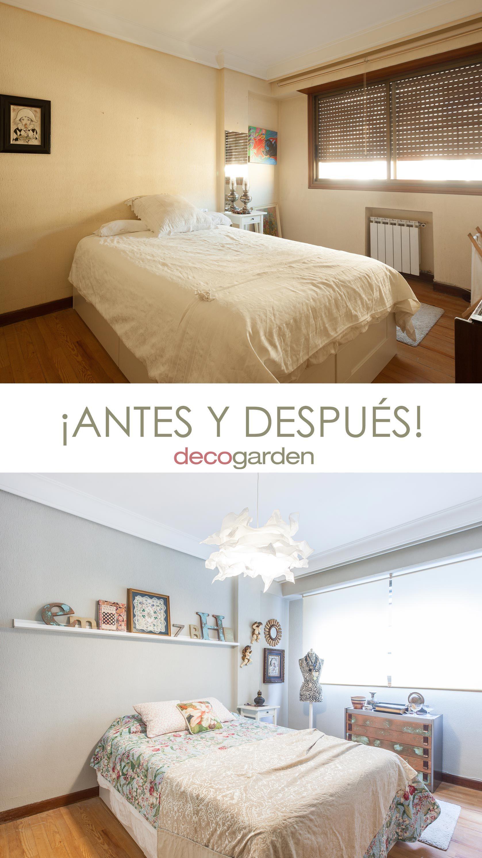 Decorar dormitorio romántico - antes y después
