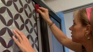 Decorar puertas de espejo del armario con vinilos - paso 5