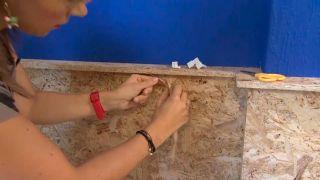 Decorar pared de dormitorio con friso de OSB iluminado - paso 4