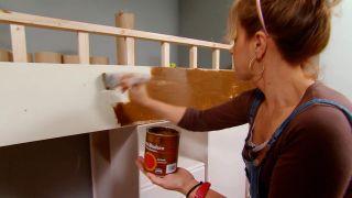 Pintar efecto madera con vetas - paso 2