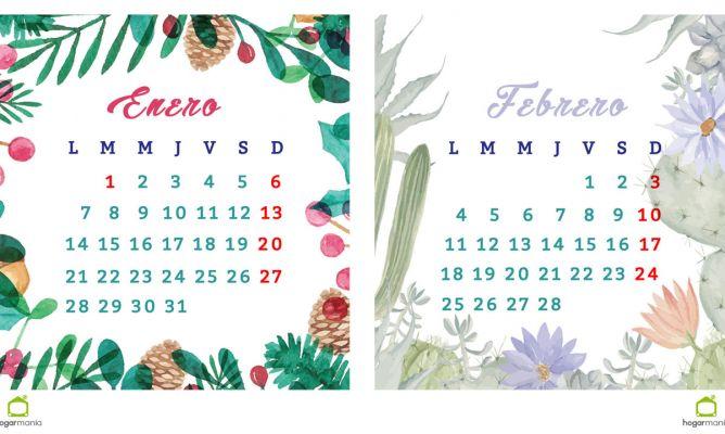 Febrero 2019 Calendario.Enero Y Febrero 2019