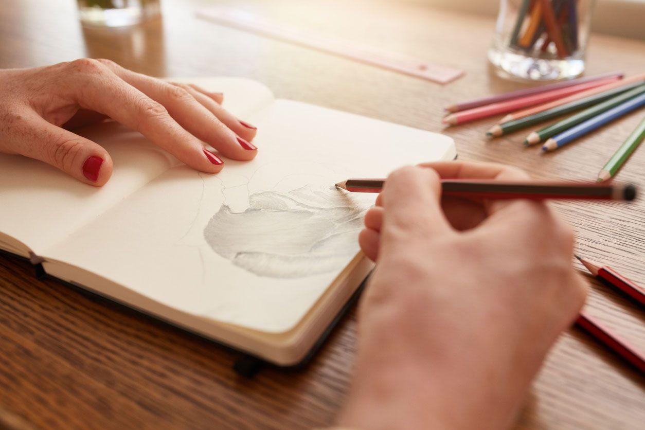 Cuaderno de pintura.
