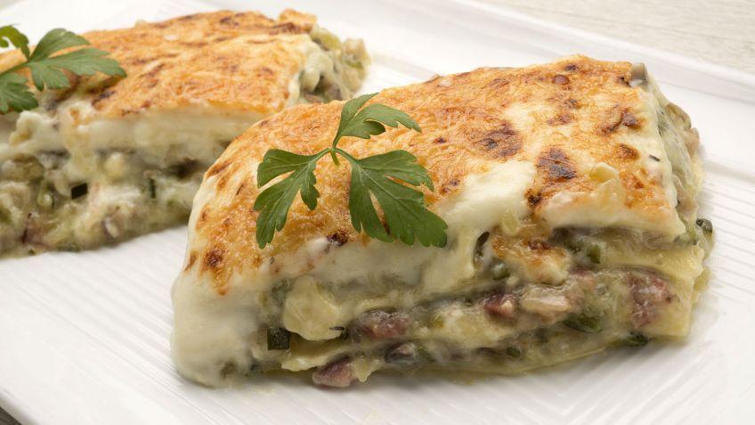 Las mejores recetas de calabacín de Karlos Arguiñano - Lasaña de calabacín, champiñones y jamón