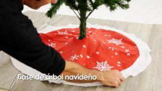 Base de árbol navideño - Paso 1