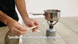 Cómo hacer servilleteros con palos de madera - Paso 1