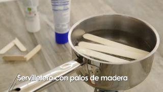Cómo hacer servilleteros con palos de madera - Paso 2