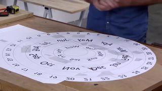 Cómo hacer un calendario giratorio - Paso 1