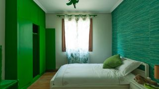 Decorar estudio multifuncional color verde - antes