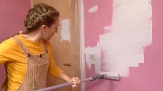 Decorar dormitorio juvenil con estudio rosa - paso 1