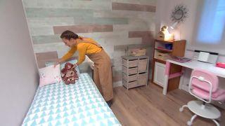 Decorar dormitorio juvenil con estudio rosa - paso 11
