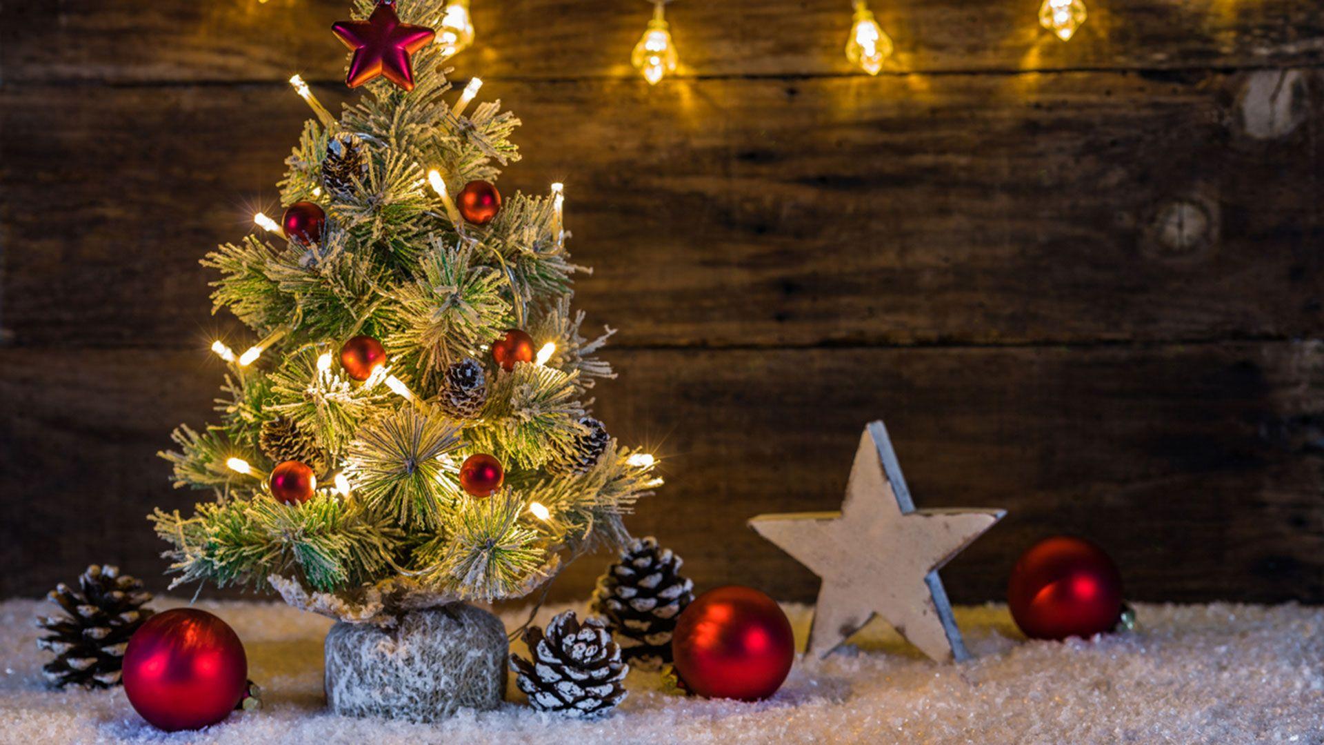 Árbol de Navidad tamaño mini.