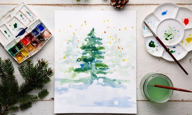 Cómo Aprender A Pintar Con Acuarelas Aprovecha La Navidad