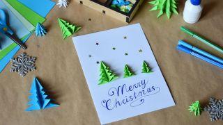 Cómo hacer una postal navideña combinando origami y lettering