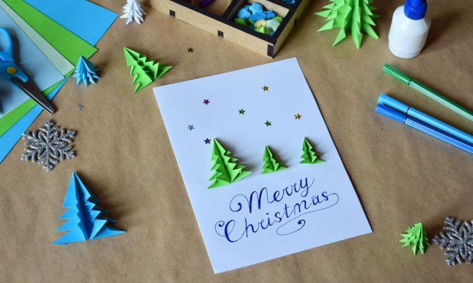 Hacer Postales Navidenas Fotos.Como Hacer Una Postal Navidena Combinando Origami Y