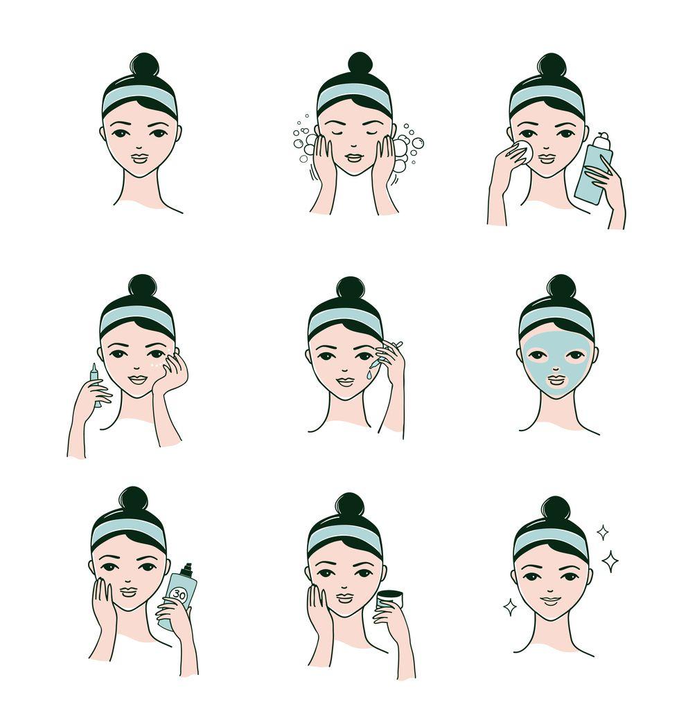 Rutina de belleza facial coreana.