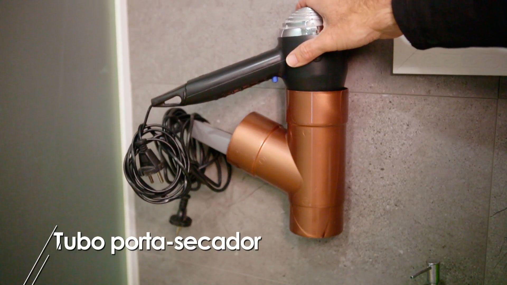 Ideas para reutilizar tubos de pvc - Porta secador