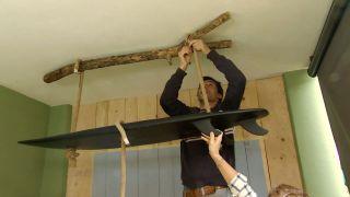 Cómo hacer una lámpara con una tabla de surf  - Paso 8