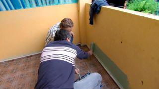 decorar un porche juvenil en color verde - paso 1