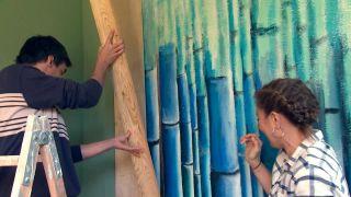 decorar un porche juvenil en color verde - paso 3