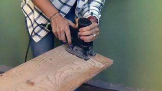 Revestir la pared con madera de pino  - Paso 1