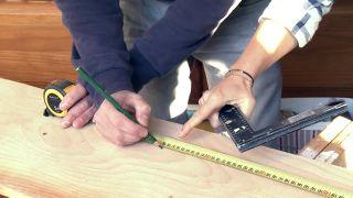 Revestir la pared con madera de pino - Paso 2