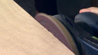 Revestir la pared con madera de pino - Paso 3