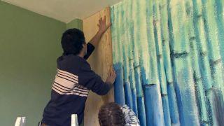 Revestir la pared con madera de pino  - Paso 5