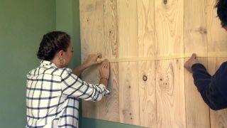 Revestir la pared con madera de pino  - Paso 6