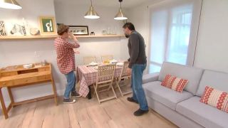 Decorar salón comedor con cocina abierta en madera - paso 10