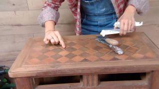 Decorar salón comedor con cocina abierta en madera - paso 8