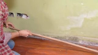 Revestir suelo y pared con lamas roble - paso 1