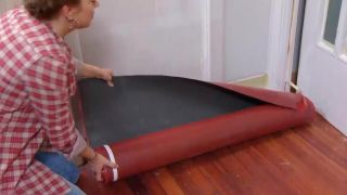 Revestir suelo y pared con lamas roble - paso 2