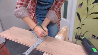 Revestir suelo y pared con lamas roble - paso 4