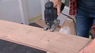 Revestir suelo y pared con lamas roble - paso 5