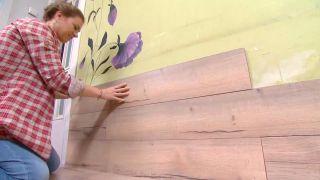 Revestir suelo y pared con lamas roble - paso 9