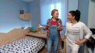 decorar un dormitorio infantil con escritorio y friso de madera - paso 12