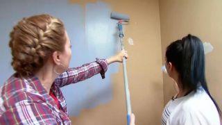 decorar un dormitorio infantil con escritorio y friso de madera - paso 2